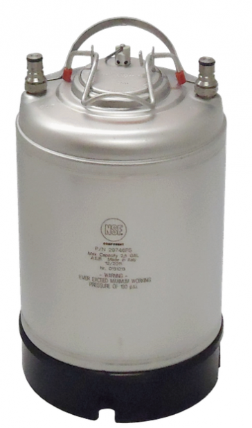 2.5 gallon Ball Lock Keg - new