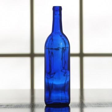 Blue Bordeaux Wine Bottles