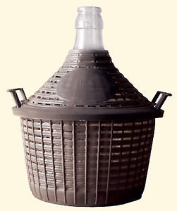 Small Italian Demijohn with Basket 6.6 gal./25 ltr