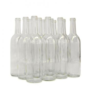 750ml Clear Bordeaux Wine Bottles 12 per case