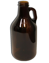 Amber Quart or 1/2 Gallon Growler