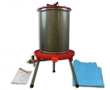 #40 Painted Base Bladder Press with Stainless Steel Cage
