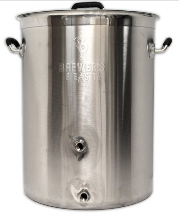 Brewers Beast Basic Brewing Inductrion-Ready Pot 16 Gallon w/ Two Ports