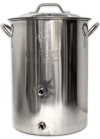 Brewers Best Basic Brewing Induction Pot 8 Gallon w/ Two Ports
