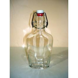 Bormioli Italian Flask Clear Glass 8.5 oz  (Sold Individually)