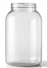 1 gallon glass jar without cover