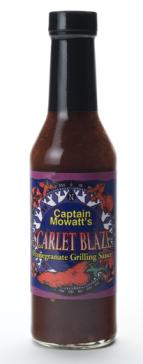 Captain Mowatt`s Scarlet Blaze Pomegranite Grilling Sauce