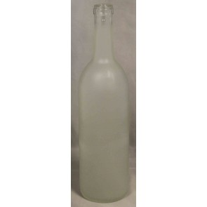Bordeaux Frosted Wine Bottle