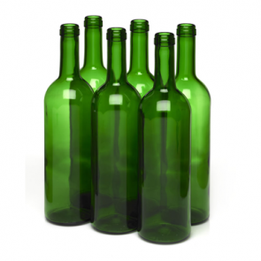 750ml Champagne Green Wine bottle