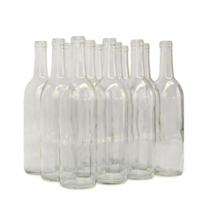 Clear Bordeaux Wine Bottles