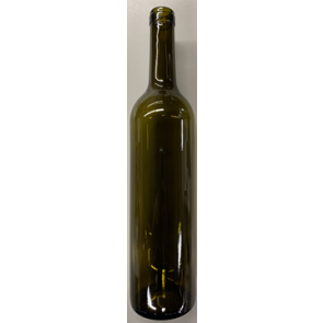 750ml Bordeaux Antique Green wine bottles