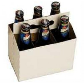 Cardboard 6 Pack Bottle Carrier