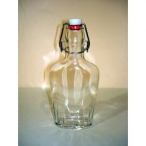 Bormioli Italian Flask Clear Glass 8.5 oz  (Sold Individually)