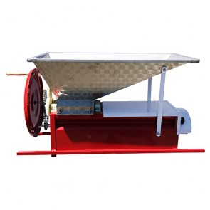 Manual Crusher/Destemmer with Stainless Hopper and Painted Bottom