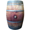 French Oak Barrels -  Pre-owned Burgundy Style (Round) - 60 Gallon
