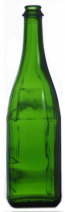 Champagne Bottles - Green 750ml