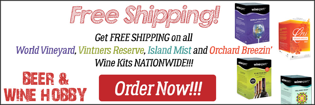 Free Shipping on Wine Kits