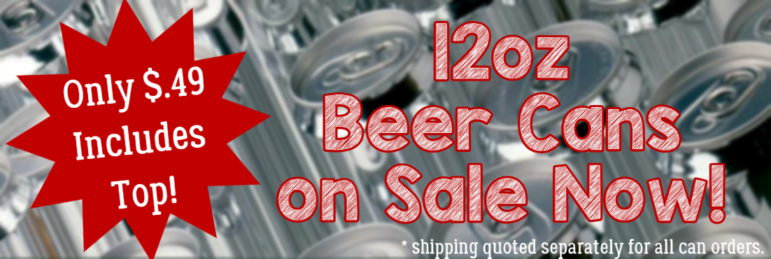 Beer cans on sale