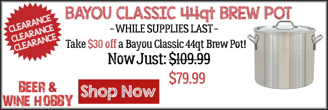 Bayou Classic 44 quart Brew Pot