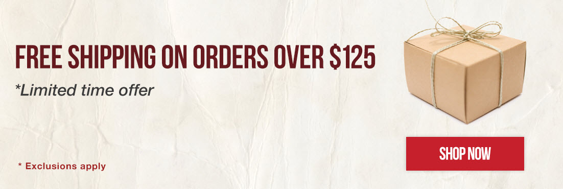 Free Shipping on most orders over $125