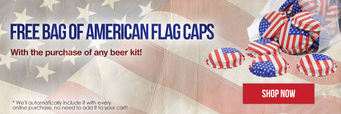 Caps with every Beer & Wine Beer Kit Purchased